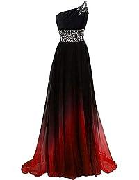 90a8a0b311 W TT El gradiente de Las Mujeres Color con Cuentas Prom Vestidos de Fiesta  de la Noche