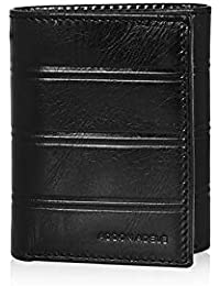 Addon Adele – Wallet for Mens, Leather Branded and Stylish | C Line Long Wallet for Men, Black Color