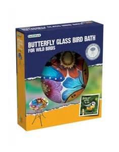 Gardman A04375 Butterfly Glass Bird Bath - Multi-Colour 1