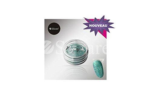 Pulver Pailletten Shimmer Tray Nymph Effect Hologramm Türkis Nail Art (Strass Acryl Designer)