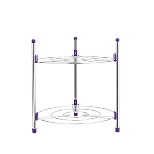 JF Zwei-Ebenen Metall Topf-Rack Storage Rack Multifunktionales Küchenregal