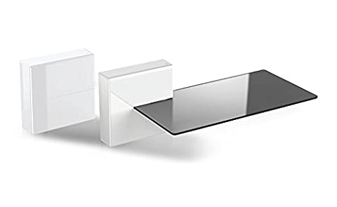 Meliconi 480522 Ghost Cubes Shelf White Stapelbare Kabelkanal mit Regalen