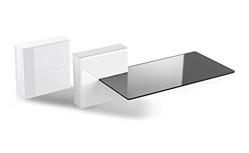Stapelbar Dvd (Meliconi 480522 Ghost Cubes Shelf White Stapelbare Kabelkanal mit Regalen aus Glas weiß)