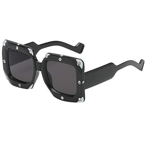 SuperSU Unisex Sonnenbrillen Mode Punk Brillen Klassische spiegel Übergroße Sonnenbrille Damen Sportsonnenbrille Mehrfarbig Strass Dekor Brillenfassung Street Style Sonnenbrillen