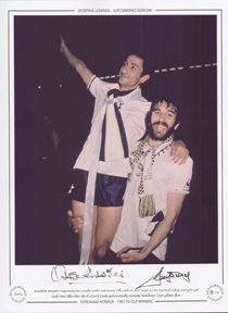 Ardiles & Villa Tottenham Hotspur celebrate with FA Cup 1981 - Signed Limited Edition by Sporting Greats