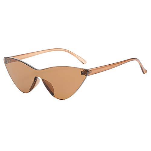 QinMM Sonnenbrille mit schmalem Metall Gestell, Mode Mann Frauen Smasll Rahmen Herz Sonnenbrille Brille Vintage Retro Style