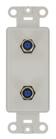 Leviton 40682-W CATV Video Decora Insert Flush Mount Jack,