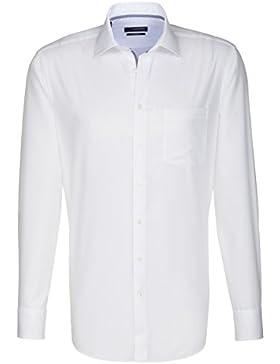 SEIDENSTICKER Herren Hemd Modern 1/1-Arm Bügelfrei Uni / Uniähnlich City-Hemd Kent-Kragen Kombimanschette weitenverstellbar