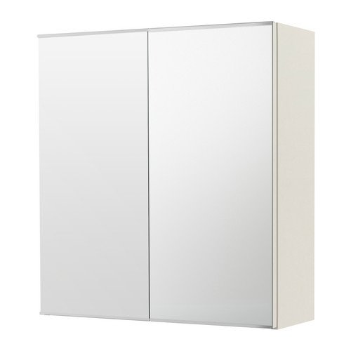 Ikea LILLA…NGEN – Mirror Cabinet with 2 Doors White A 45-60x21x64 cm