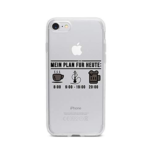 licaso Apple iPhone 7 Handyhülle Smartphone Apple Case aus TPU mit Mein Plan für Heute Print Motiv Slim Design Transparent Cover Schutz Hülle Protector Soft Aufdruck Lustig Funny Druck