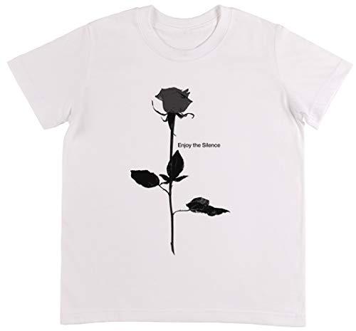 Enjoy The Silence Style Rose White Weiß T-Shirt Jungen Mädchen Größe 3XS | Unisex Kids White T-Shirt Size 3XS -