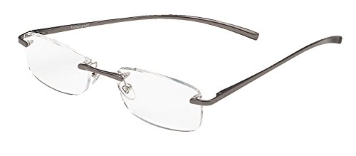 foster-grant-reading-glasses-le-carre-aluminium-silver-rimless-frame-150