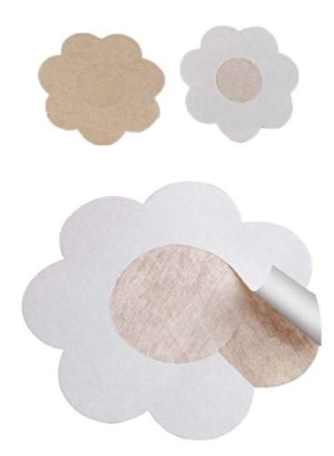 Interesting® 2 Paar Silikon Nippel Cover Pasties Brust BH Kleber Gel Pad Stick - Blütenblatt Nipple Covers