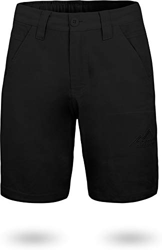 normani Herren Chino Bermuda Shorts Sommerhose, Kurze Hose - Sweatshorts mit Invisible Zipper aus Bio-Baumwolle (S-5XL) Farbe Schwarz Größe 4XL Chino-hose
