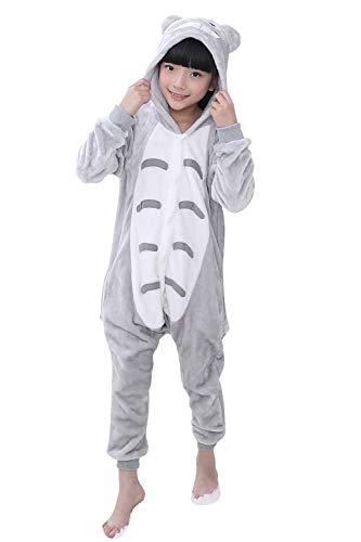 Kinder Kostüm Totoro - YAOMEI Kinder Unisex Jumpsuits, 2018 Kostüm Tier Onesie Nachthemd Schlafanzug Kapuzenpullover Nachtwäsche Cosplay Kigurum Fastnachtskostuem Weihnachten Halloween (100-110CM(39''-43''), Totoro)