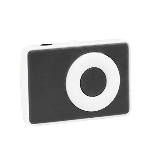 Mini Mp3 Musik Media Player Unterstützung 32 GB Micro TF Card & Headset (Schwarz) ()