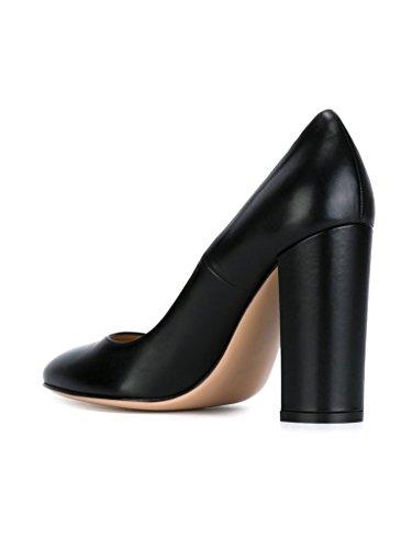 EDEFS - Scarpe col Tacco - Decolleté Chiuse Donna - Elegante Alto 10cm - Tacco a Blocco Black