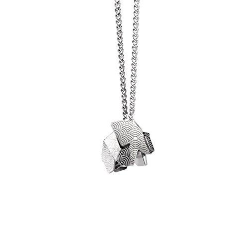 KOSHA – Schmuck-Elefant origami - Klein - Edelstahl. Messingkette. Geschenkbox. Grossartiges Geschenk.