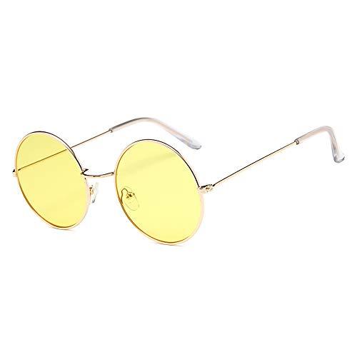 Gafas redondas amarillas estilo clásico