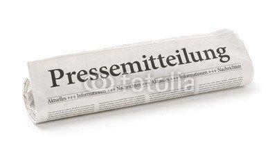 druck-shop24 Wunschmotiv: Zeitungsrolle mit der Überschrift Pressemitteilung #80687729 - Bild als Klebe-Folie - 3:2-60 x 40 cm/40 x 60 cm