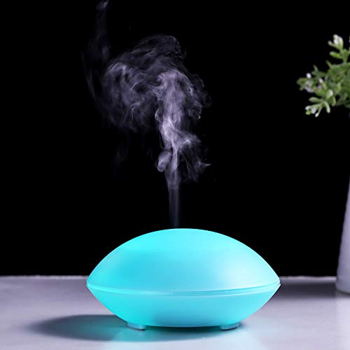 NEWKBO 80ml USB Difusor Ultrasónico Aroma Aroma Vaporizador Aceites Esenciales Difusor Apagado Automático Humidificador Purificador de Aire Temporizador LED 7 Colores para SPA, Sala De Estar, Oficina
