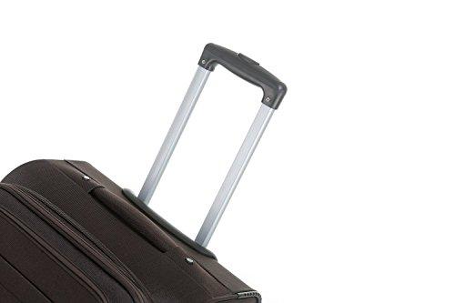 BEIBYE 4 Rollen Reisekoffer 3tlg.Stoffkoffer Handgepäck Kindergepäck Gepäck Koffer Trolley Set-XL-L-M (Coffee, M-Handgepäck-54cm) - 6