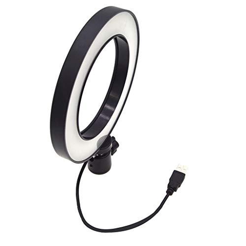 perfk Ringlicht 6 Zoll Dimmbar LED Ringblitz, Farbtemperatur 5500K Ringleuchte, Blitzschuhadapter für Video, Selfies, Make-up