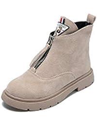 b18b426c1159 Adultsys Bottes pour Femmes Plus Bottes en Velours Martin Bottes Femme  Britannique Vent Plat Femmes Chaussures