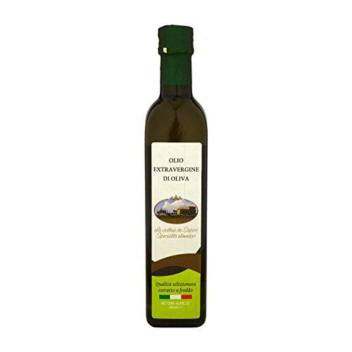 Olio extravergine di oliva italiano leccino abruzzo bottiglia 500 ml glac003