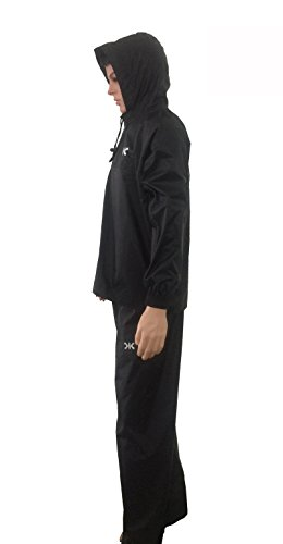 Killer Black Nrc Rain Suit For Men With Hood And Front Zip (kgt-209)