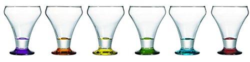 7069010 1 Acerola - Lote de 2 copas de helado (cristal multicolor, 28