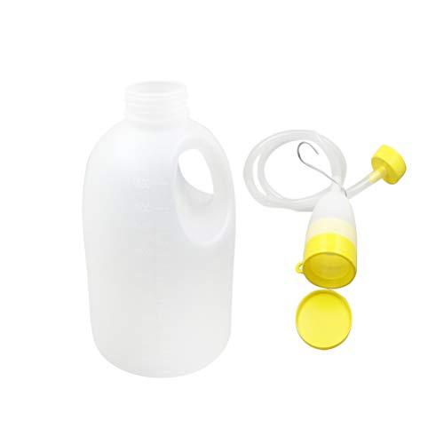 Healifty Herren Urinflasche tragbare Notfalltoilette mit Schlauch für ältere Menschen, Krankenhaus, Zuhause, Camping, Auto, Reise, 1700 ml