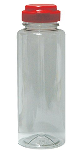 Mann Lake CN-555 Plastic Squeeze Cylinder with Red Flip Top Lid (24 Pack), 12 oz 1