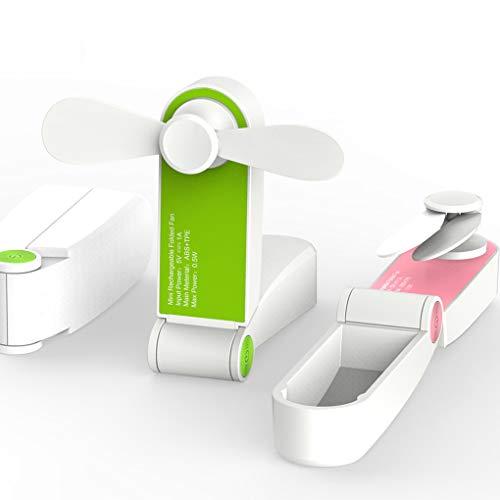 Lorsoul Faltbare Handtasche USB-Fans Wiederaufladbare Handminiventilator Elektrisches Personal Fans Hand Bar Desktop-Fan (Wiederaufladbare Fan)