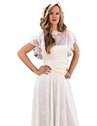 Factory Sposa Vestidos de Novia a Medida Traje de Boda para Mujer con Falda de Encaje Vintage para Ceremonia Civil…