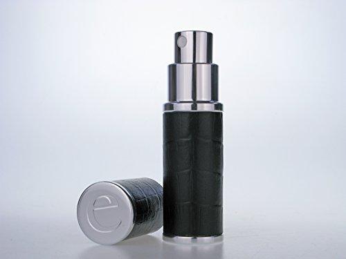Der Essential Zerstäuber CO. Schwarz & Silber Faux Croc 10ml nachfüllbar Duft Parfum und Aftershave Travel Zerstäuber. Mit einem Trichter und Geschenk-Box (Croc Faux Handtasche)