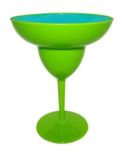 Island Dogs Margarita-Glas, Kunststoff, 16,5 x 21,6 cm, Grün - Margarita-gläsern