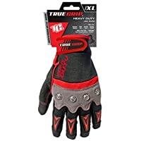 True grip 9894–23X-Large Heavy Duty work touchscreen guanti con dita–nero/rosso