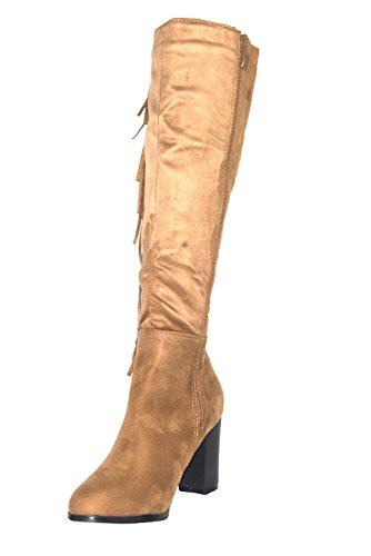 Unknown, Stivali donna Nero nero Camel Suede