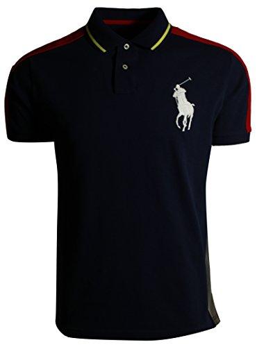 Polo Ralph Lauren Damen V-Neck Shirt T-Shirt Dunkelblau-Weiß (XS) (Ralph Lauren Polo Xs)