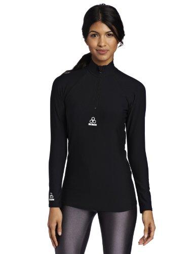 McDavid Damen HexPad Freeride Gepolsterte Compression Shirt, damen, 9975W, Schwarz, Large (Mcdavid Hexpad Shirt)