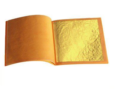 lot de 500 feuilles d'or 70mm X70 mm 24 carats dans la base 100% veritable