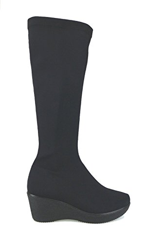 SUSIMODA stivali donna nero tessuto AJ913 (36 EU)