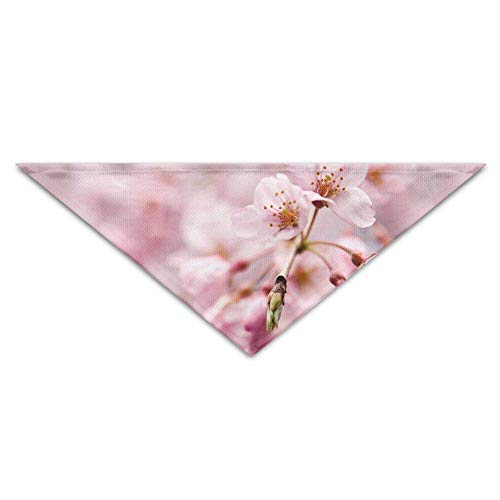 (Sdltkhy Tokyo Flower Pink Floral Dog Bandanas Scarves Triangle Bibs Scarfs Fashionable Basic Neckerchief Cat Collars Pet Costume Accessory Kerchief for Large&Medium&Small Puppy)