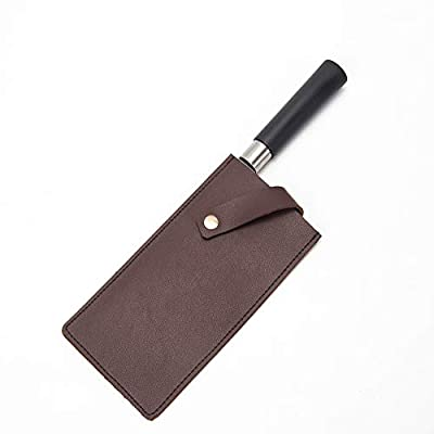 """HANSHI 8.3"""" Chef Knife Guard, Heavy Duty Leather Knife Sheaths, Chef Wide Knives Blade Edge Protectors, Cleaver Guard, Knife Covers HDT04"""