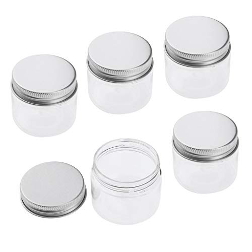 Sharplace Pot Vide Rond en Plastique Transparent avec Couvercle Cosmetic Container Rangement pour Crèmes Stockage Onguents Toners - 40ml