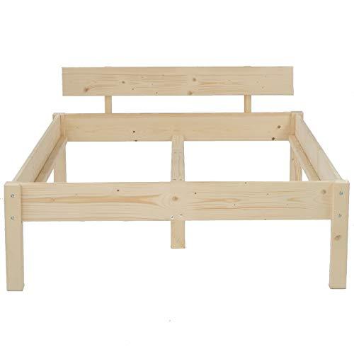 TUGA Holztech Naturprodukt MASSIVHOLZBETT DAYBETT MASSIV HOLZ BETT HOLZBETT FSC 300Kg 100 x 220cm unbehandelt HÖHE 38cm