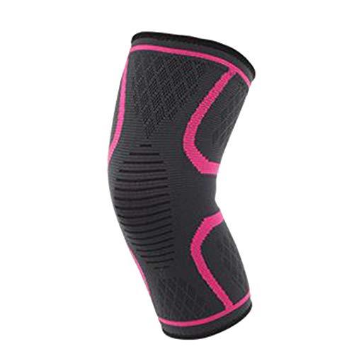 Sport-verletzungen Erholung (MAGAI Knieorthese Unterstützung Kompression Ärmeln, Laufen, Schmerzlinderung Verletzungen Erholung Basketball Und Mehr Sport 1 stücke (Color : Rose red, Size : S))