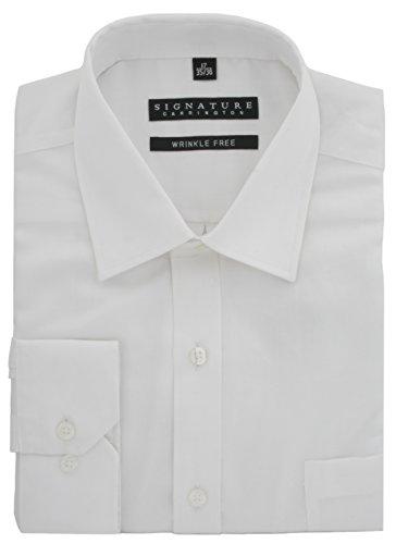 Signature Luxury Sateen regular fit camicia senza grinze White