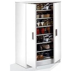 Habitdesign 007813O - Zapatero armario Basic, color Blanco, medidas: 108 x 55 x 36 cm de fondo